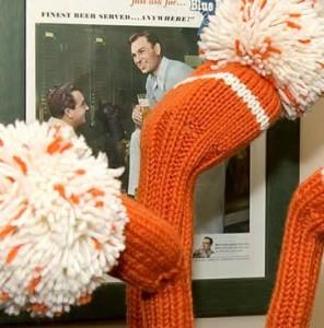 orange knitted