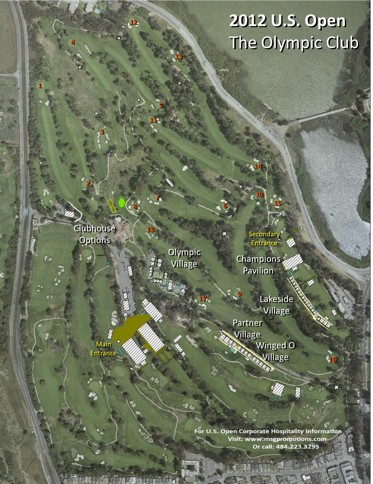 The Olympic Club 2012 US Open - Us Open Course Map