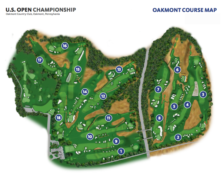 The US Open Whos Your Caddie - Us open map