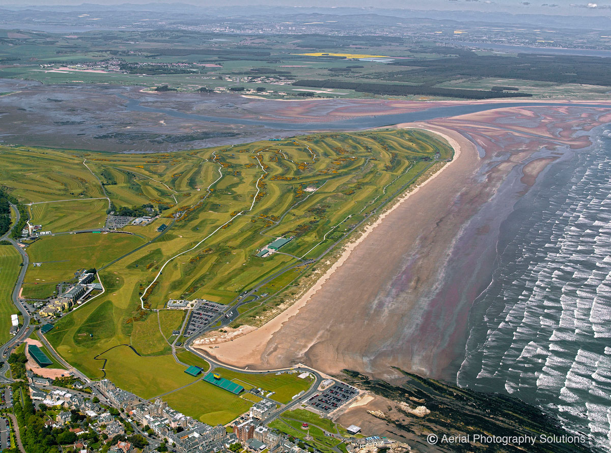 Aerial-Photograph-StAndrews-Links-Golf-Courses